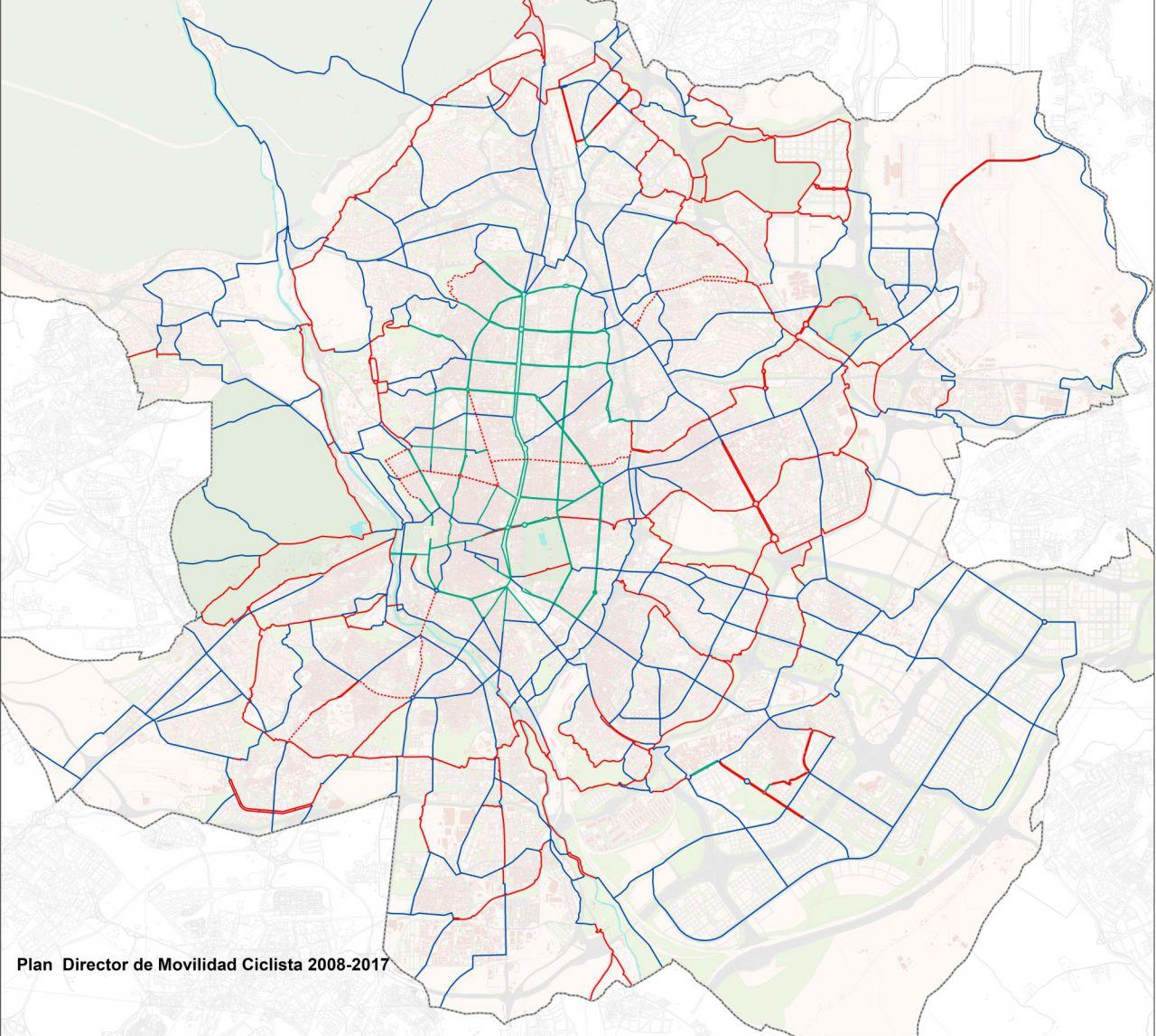 Plan Director Ciclista con todas las rutas previstas para 2025
