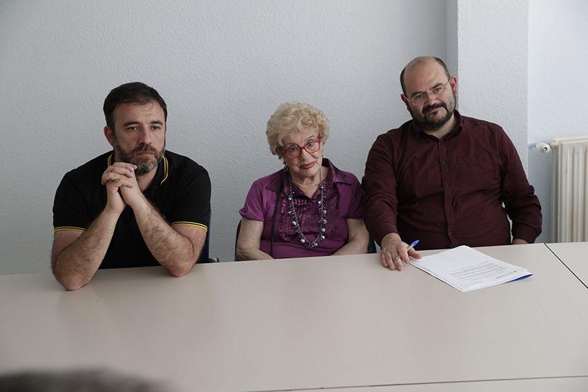 En el centro de mayores Guindalera se reunió con las juntas directivas de éste y del Maestro Alonso.
