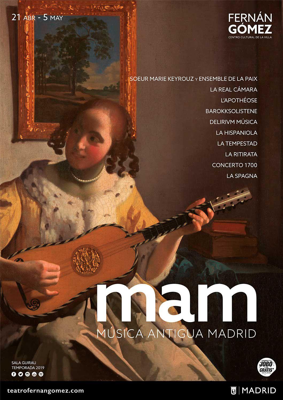 Cartel del Festival de Música Antigua de Madrid.