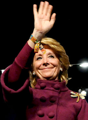 Esperanza Aguirre se postula como alcaldesa de Madrid