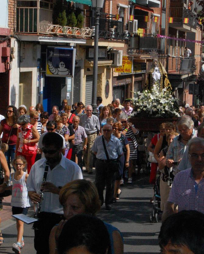 Procesión de la Virgen de la Soledad en Hortaleza.