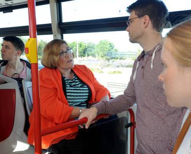 Todos en campaña para pedir transporte público