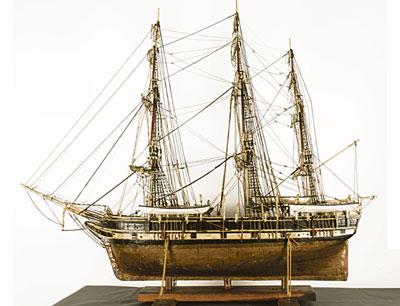 Uno de los modelos expuestos en el museo Naval.