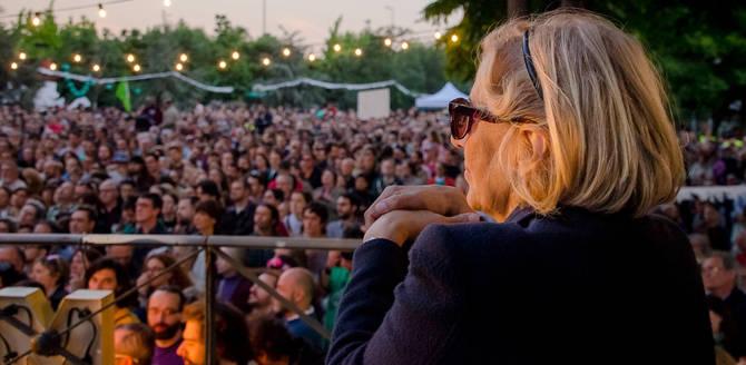 Manuela Carmena, en una imagen de la reciente campaña electoral. (Foto: Félix Moreno)