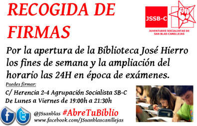 #AbreTuBiblio 24 horas para estudiar