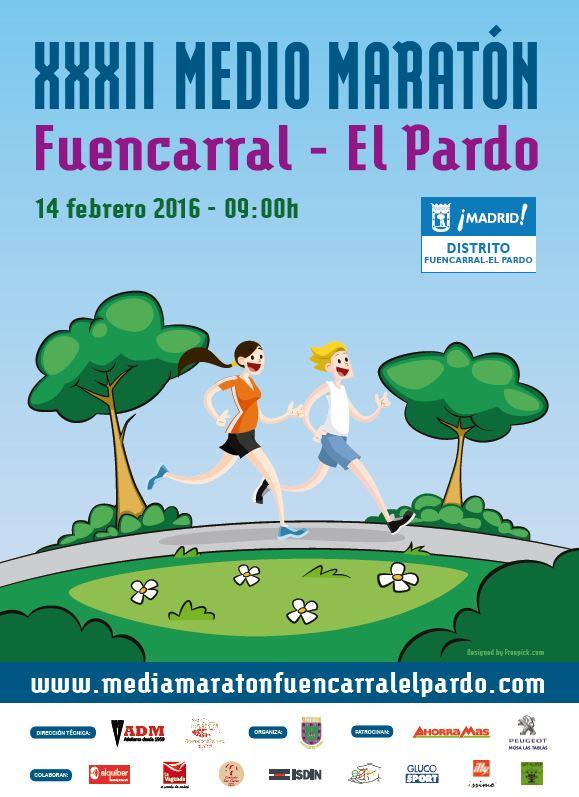Cartel diseñado para la media maratón.