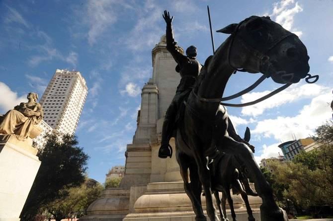Don Quijote se queda en Plaza de España