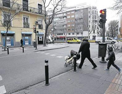 Semáforos, semáforos y algún paso de peatones