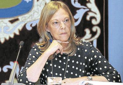 Imagen de Ana Román durante un Pleno.