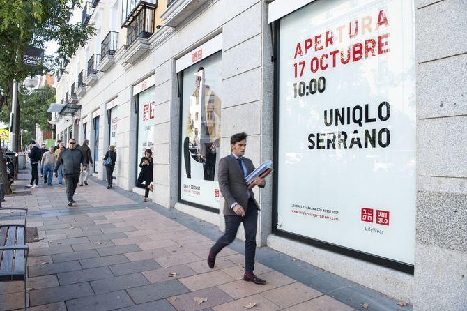 Uniqlo abre sus puertas en el número 6 de la calle de Goya.