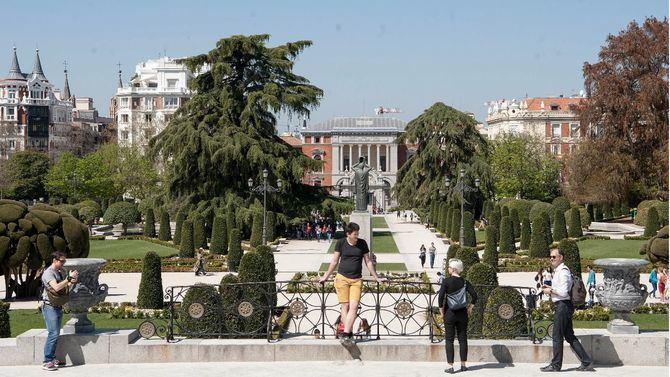 El parque del Retiro, con el barrio de Jerónimos al fondo, opta a ser Patrimonio de la Humanidad de la Unesco.