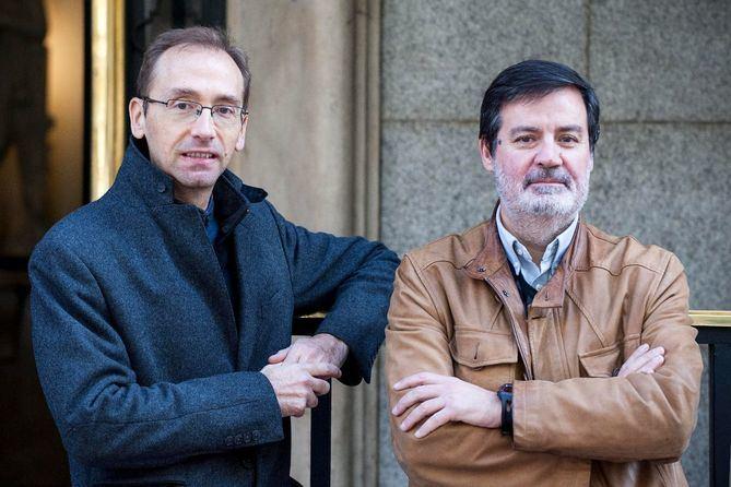 Luis Díez, a la izquierda, y Enrique Álvarez, a la derecha, son portavoces de Ciudadanos en Retiro y Saqlamanca, respectivamente.