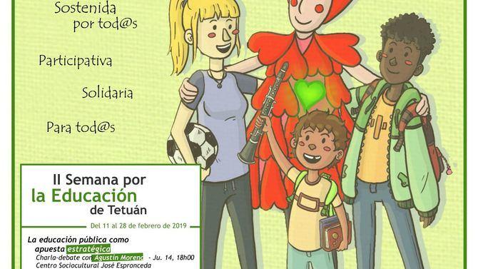 Cartel II Semana de la Educación en Tetuán.