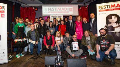 Foto de familia de la presentación de FESTIMAD2M.