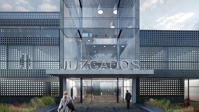 Recreación de la nueva sede judicial de Torrejón de Ardoz.
