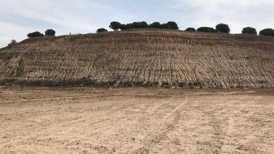 El montículo situado en la parcela donde se construirá el IES.