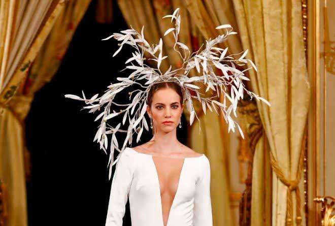 Diseño de Hannibal Laguna, de la colección de novias 2020 en Atelier Couture 2019.