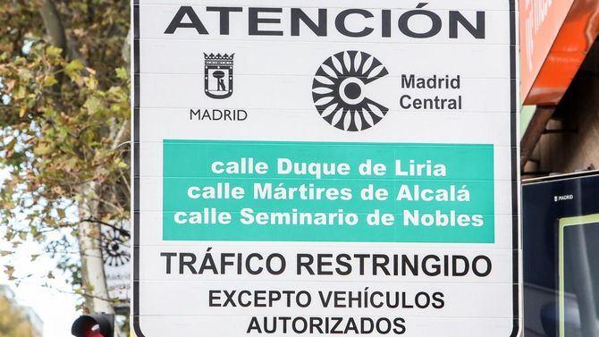 Tras el periodo de prueba, las restricciones en Madrid Central implican ya sanciones.