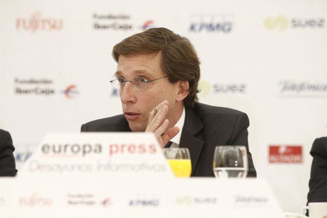 Almeida, este martes en el desayuno informativo organizado por Europa Press.