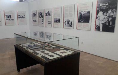 Parte de la exposición en Ciudad Lineal.
