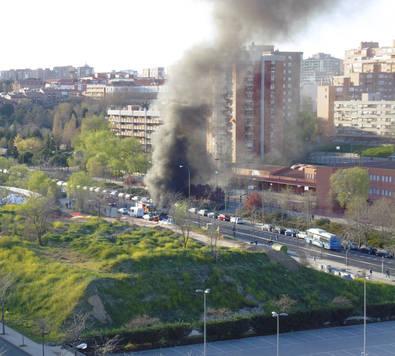 Incendio en las obras de la Línea 8