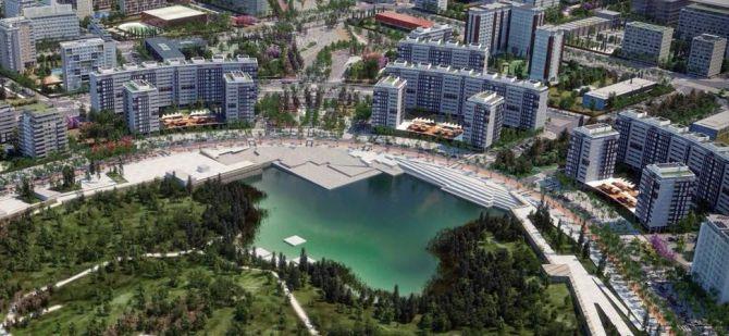 Recreación del futuro Parque Central de Valdebebas