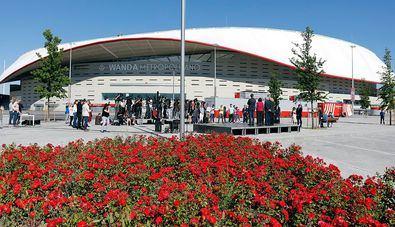 Fachada del Wanda Metropolitano, estadio del club.