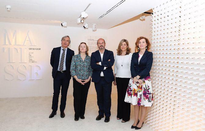 El presidente en funciones de la Comunidad de Madrid, Pedro Rollán, presentó en la Fundación Canal la exposición 'Matisse grabador. Obras de The Pierre and Tana Matisse Foundation'.