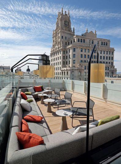 Algunas de las terrazas, como la de Picalagartos, se encuentran en azoteas desde las que disfrutar de Madrid.