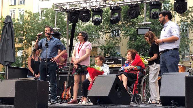 Santiago Saura, en las Fiestas de San Juan en Retiro.