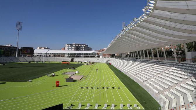 Las pistas verdes serán la gran seña de identidad del nuevo estadio Vallehermoso.