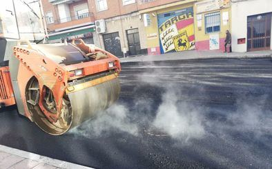 Imagen de archivo de la operación asfalto.