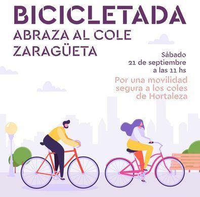Bicicletada para reivindicar el camino seguro al cole