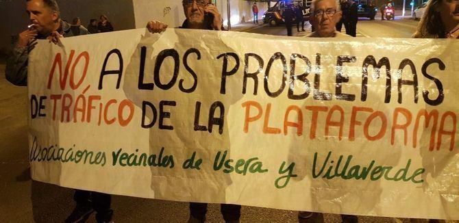 Los vecinos de Villaverde y Usera ya se manifestaron en marzo pasado.