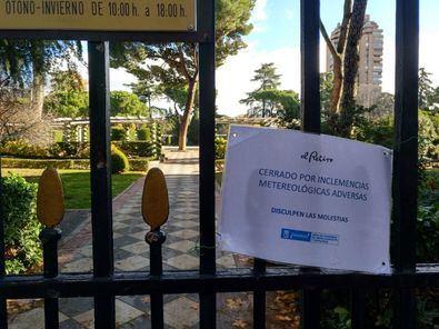 Imagen de archivo de un cierre anterior de los Jardines de Cecilio Rodríguez.