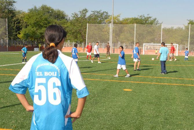 Imagen de archivo de un partido de fútbol.