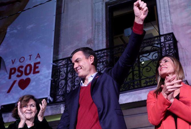 Pedro Sánchez consiguió el apoyo mayoritario en Moratalaz, San Blas y Vicálvaro.