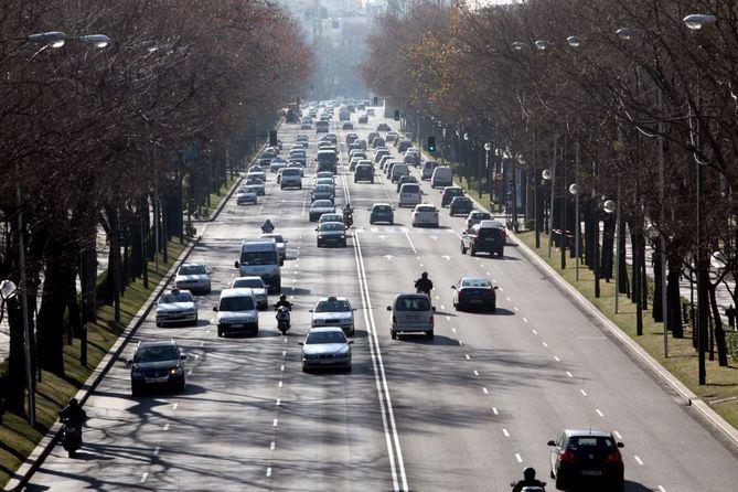 El paseo de la Castellana, entre Recoletos y el Bernabéu, entre los puntos con más accidentes de tráfico de Madrid.
