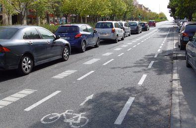 Accidentes y atascos avalan la reversión del carril bici de Gran Vía de Hortaleza