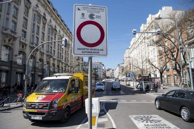 Imagen de archivo de unos de los accesos a Madrid Central.