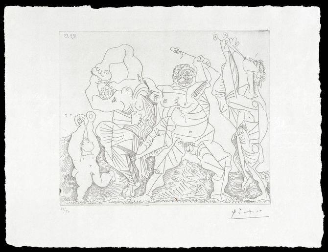 Una de las obras de la muestra de Picasso