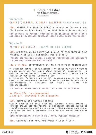 Chamartín celebra su primera Fiesta del Libro