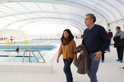 La piscina cubierta del Moscardó, operativa