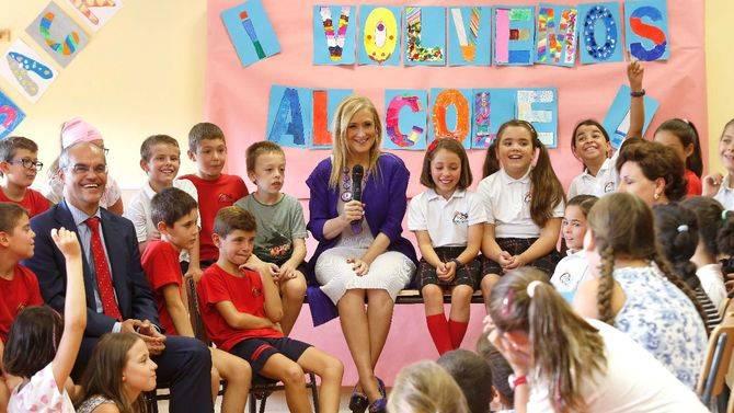 Cristina Cifuentes, en el inicio del presente curso escolar.