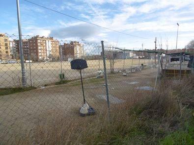 Las obras del polideportivo Oña-Sanchinarro, en 2018