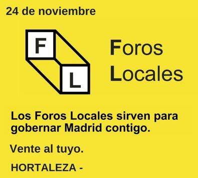 El 24 de noviembre, pleno del Foro Local