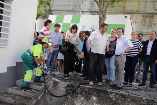 El alcalde visitó este miércoles la zona afectada por la tormenta de Barrio Aeropuerto