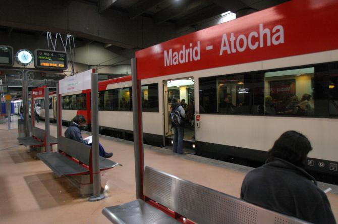 Estación de Atocha de Cercanías.