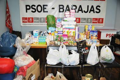 250 kilos de comida para los refugiados