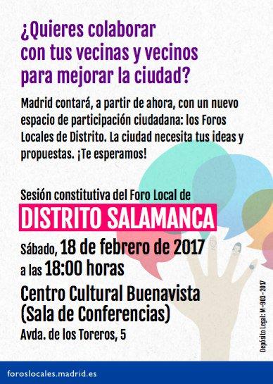Salamanca y Retiro fechan sus Foros Locales